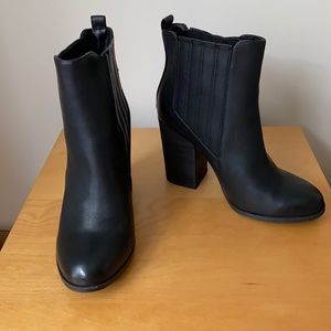 Call It Spring - Black Heeled Ankle Boots - Size 8